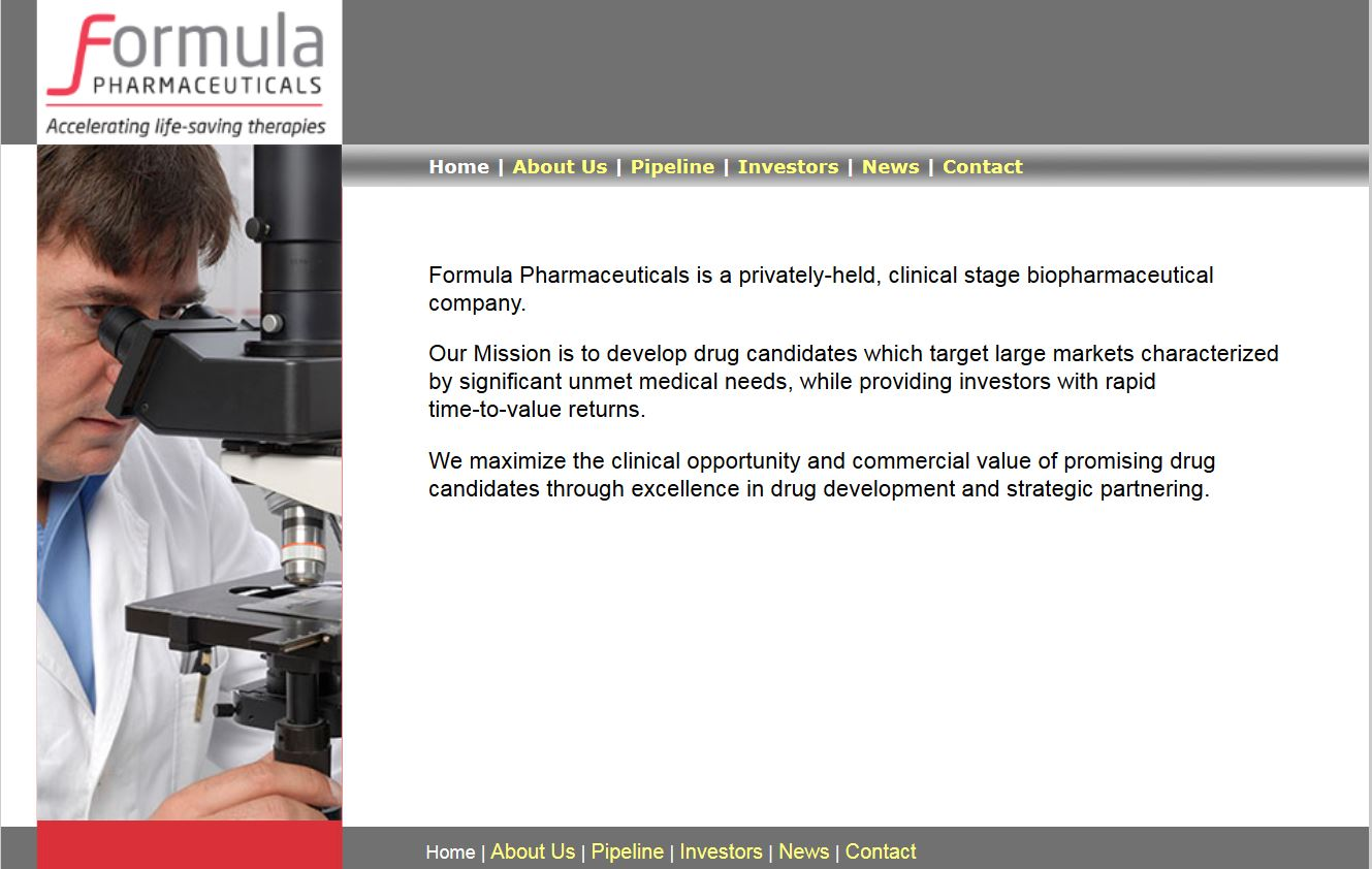 websites stuart nezin design formula pharmaceuticals · websites